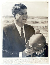 JOHN F KENNEDY original wire photo 1962 SPACE NASA CAPE CANAVERAL