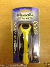 """Protector de Wilkinson Sword 3D Diamante 1 X 2 x Hojas De Afeitar & *"""" * * Gratis Reino Unido P + P *"""