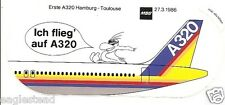 Baggage Label - Airbus - A320 - House - MBB Hamburg Toulouse 27/03/86 (BL476)
