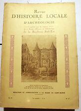 PARIS/BANLIEUE SUD-EST/REVUE D HISTOIRE ET D'ARCHEOLOGIE/AVRIL-JUIN 1937
