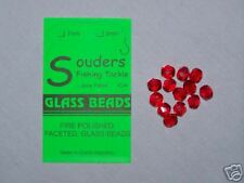 7mm Round, Faceted, Fire Polished Glass Beads - Red