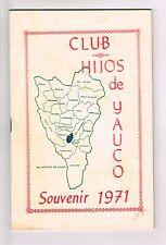 Panfleto Club Hijos De Yauco Souvenir 1971 Puerto Rico Anuncios Biografias