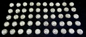 (50) CLEAR Glass - CATS EYE STYLE - (GLASS REFLECTOR SIGN JEWELS) NOS BUBBLE TOP