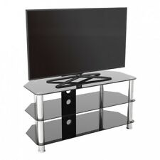 """TV Stand Modern Black Glass Unit up to 50"""" inch HD LCD LED Curved TVs - 100cm"""