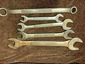 Mixed Lot Set of vintage CRAFTSMAN Open End Double Ended Wrench