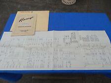 1959 Keeney LITTLE BUCKAROO Operation and Service Manual + Schematic