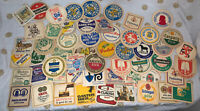 55 piece LOT Brewery Beer Pub Bar - Coasters Stickers Stuff - some Vintage Rare