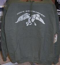 """Size Large Duck Dynasty """"Duck Commander"""" Moss Green Hooded Sweatshirt"""