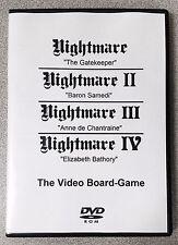 Nightmare I II III & IV / 1 2 3 & 4 Video Board Game Video Tape DVD Combo Pack!