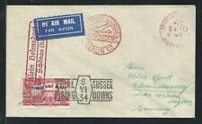 1934 Great Britain rocket mail - Sussex Downs to Germany - 2C1b