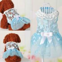 Small Dog Princess Dress Spring Summer Pet Puppy Clothes For teddy Skirt S9Z7