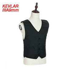 Concealable Body Armor NIJ IIIA Aramid Bullet Proof Jacket V-neck Ballistic Vest