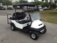 Nice 2019 white gas Club car Precedent 4 Passenger Golf Cart lights flip seat