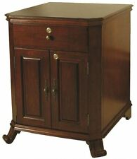 The MONTEGUE End Table HUMIDOR Antique Walnut Finish - Hold up to 1500 Cigars