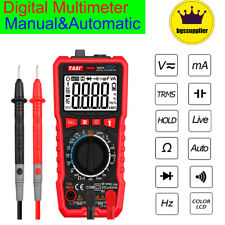 Digital LCD Multimeter Ammeter AC DC Voltage Ohmmeter Tester Meter Auto Range US