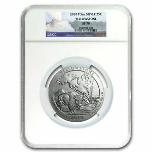 2010-P Yellowstone America The Beautiful ATB 5 Oz Silver Coin NGC SP70