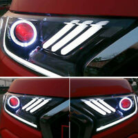 HEADLIGHT LAMP MUSTANG PROJECTOR LED RED EYES FOR FORD RANGER MK2 PX2 2015 17 18