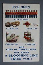 R&L Postcard: Bamforth 2936 , A Line of Soldiers, Railway, Clothes, Tram etc