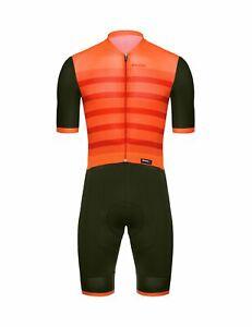 Santini 2019 Men's Genio Cycling Skinsuit - Orange / Military Green