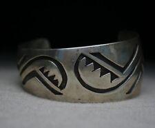 Vintage Native American Hopi Sterling Silver Cuff Bracelet