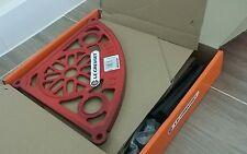New in box Rare Le Creuset red /cerise colour 3-tier cast iron pot stand