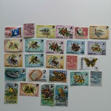 More details for 100 different basutoland and lesotho stamp collection