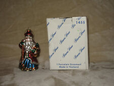 Princess House Hand Blown Glass Santa Ornament #6407 - Perfect Condition
