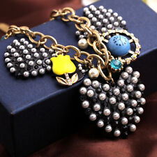 Enamel Betsey Johnson Jewelry Pendant Rhinestone pearl heart Swallow Necklaces