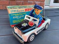Daiya Japan Highway Patrol Jeep In Its Original Box - Excellent Working Rare