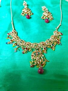 womens bollywood necklace set