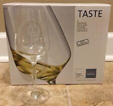 "NEW 6PC Schott Zwiesel TASTE 12 oz White Wine Glass MONOGRAM ""L"""