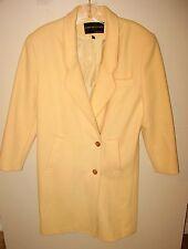 DAVID BENJAMIN COLLECTION WINTER WHITE WOOL DRESS COAT - LADIES SIZE 6
