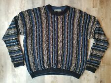 Vintage 80s 90s Coogi Style Tundra Canada Cosby Biggie Sweater Mens XL Blue