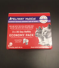 Feliway D89450B Diffuser Refill for Multiple Cats - 3 Pack Exp 09/01/2023