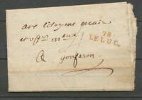 1794 Lettre Marque Linéaire 78 Le Luc en Rouge VAR(78)  25*9mm X2041