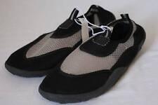 NEW Mens Water Shoes Large Size 10 Black Gray Mesh Slip On Aqua Socks Sandals