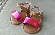 NEW! Baby Girl STUART WEITZMAN Baby Nudist Raspberry Pink Brown Sandals, Size 2