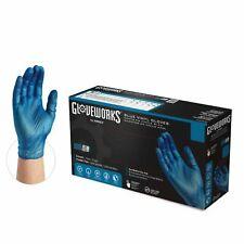 1000cs Gloveworks Ivbpf Blue Industrial Latex Free Vinyl Disposable Gloves