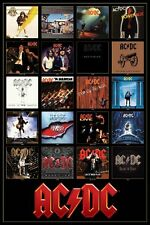 MUSIC ROCK GROUP AC/DC DISCOGRAPHY POSTER NEW 36x24 FREE SHIPPING