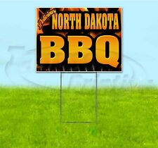 NORTH DAKOTA BBQ 18x24 Yard Sign WITH STAKE Corrugated Bandit BUSINESS BARBECUE