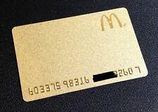 CANADA MCDONALDS GOLD COLOUR GIFT CARD / ARCH CARD ----- NEW ----- RARE