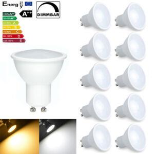 8x 4x Dimmable GU10 3W 5W LED Lamps Spot Light Cool Warm Energy Saving bulbs