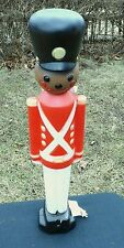 General Foam African American lighted toy soldier blow mold Christmas  NWT