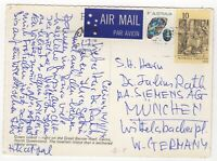 1974 Nov 11th. Air Mail. Picture Postcard. Cairns to Munich, West Germany.