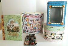 Mary Engelbreit Mixed Lot Round Box Tin Canister She Who Love Garden Cookbook