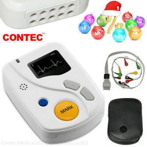 CONTEC 12-Channel 48 hr Holter Monitor ECG/EKG System Machine,pacemaker Analyzer