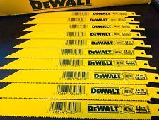 """(10) DEWALT 8"""" RECIPROCATING SAWZALL SAW BLADES 14TPI BI METAL DW4809 DW4809B"""