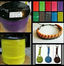 Driza corde tressée cordage 4mm x 200 mts pour bracelets porte-clés escalader