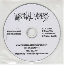 (GJ569) Imperial Vipers, 4 track sampler - 2008 DJ CD