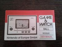 NINTENDO GAME & WATCH BALL REEDITION CLUB NINTENDO ENGLISH INSTRUCTION MANUAL